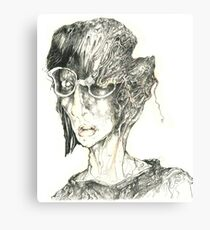 Head With Glasses Canvas Print