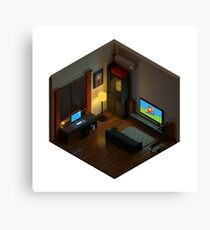 Voxel Room Canvas Print