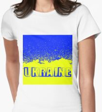 Yellow and Blue Flag of Ukraine. Symbol of Independence. T-Shirt