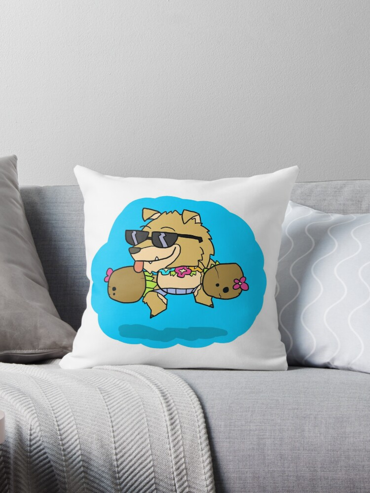 'Brawlhalla - Dog Days Mordex' Throw Pillow by Clunse