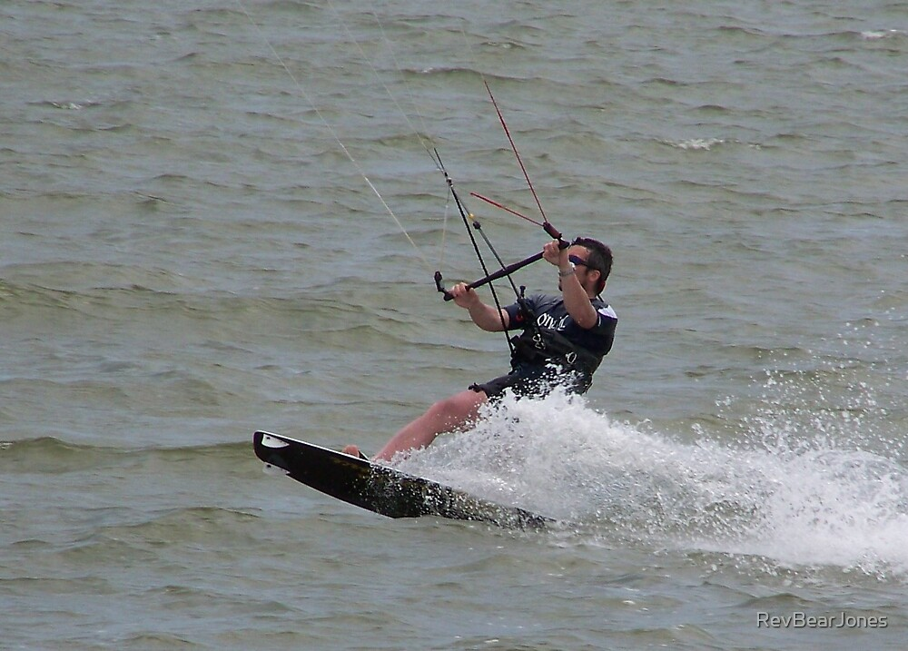 Kite Surfing in Texas City, Tx by RevBearJones