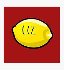 Liz Lemon the Lemon Photographic Print