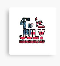 4th of July Independence Day Canvas Print