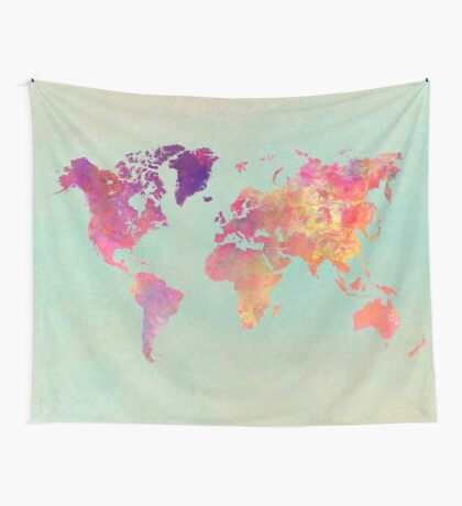 world map 102 #worldmap #map Wall Tapestry