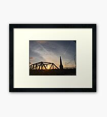 Sunset at Liverpool's pier head Framed Print