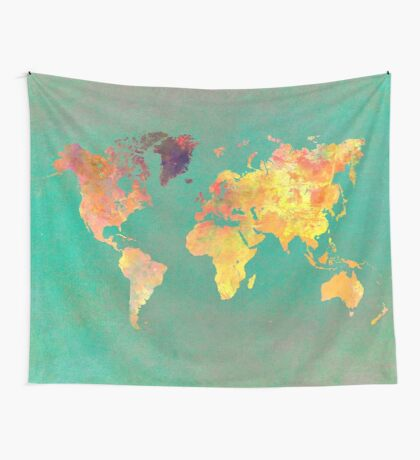 world map 103 #worldmap #map Wall Tapestry