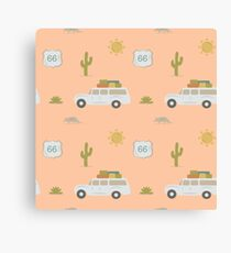 Road Trippin' in Peach Canvas Print