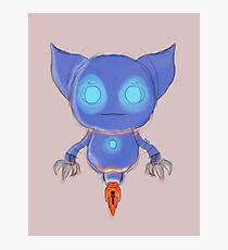 Blue Robot Photographic Print