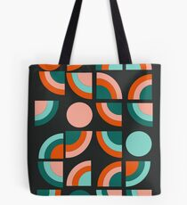 Spiffy - 70's retro throwback minimal geometric trendy colors art 1970s by Seventy Eight Tote Bag