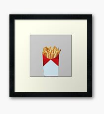 i want to smoke french fries Framed Print