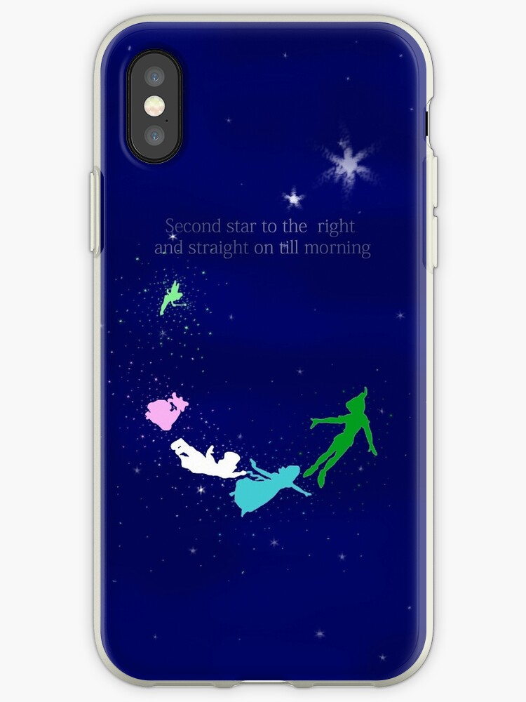 Second Star To The Right Quote Iphone Cases Covers By