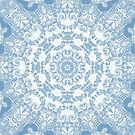 Blue and White Mandala by Kelly Dietrich