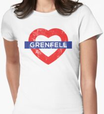 Grenfell tower shirt Womens Fitted T-Shirt