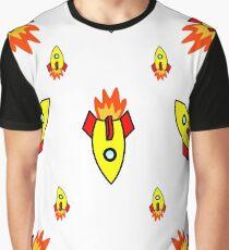 Kaleidoscope Rockets Collide Graphic T-Shirt