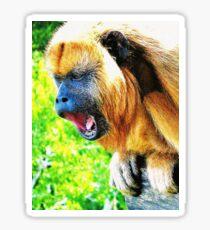 Open-mouth Monkey Sticker