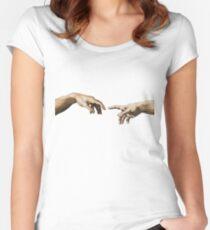 Schöpfung von Adam Tailliertes Rundhals-Shirt