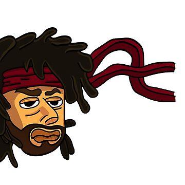 Illustration man with band on head by williamamorimws