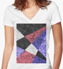 Marble Geometric Background G435 Women's Fitted V-Neck T-Shirt