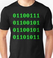 Geek in Binary Code - Retro Funny Coding Programmer clothing Unisex T-Shirt