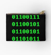 Geek in Binary Code - Retro Funny Coding Programmer clothing Studio Pouch