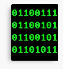 Geek in Binary Code - Retro Funny Coding Programmer clothing Canvas Print