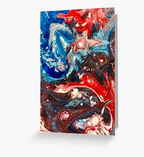 Patriotic Red White Blue Art Greeting Card