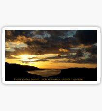 Enjoy every Sunset Sticker