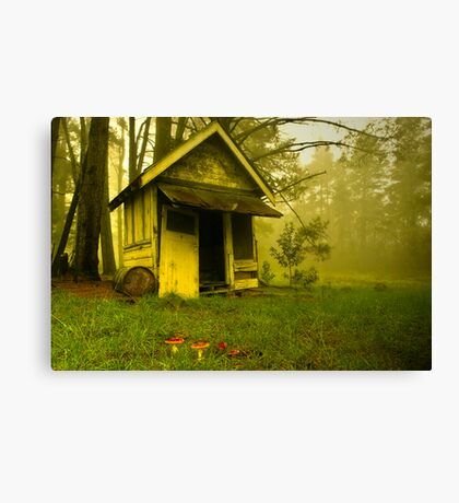 Waiting for Red Riding Hood Canvas Print