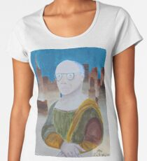 Larry David as the Mona Lisa Women's Premium T-Shirt