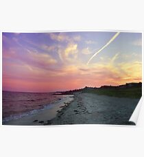 Colorful Sunset on the Beach Poster