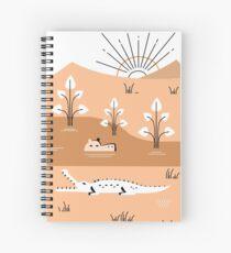 Hippo Landscape Spiral Notebook