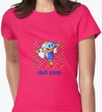 Dot Com- Retro Robot  Womens Fitted T-Shirt