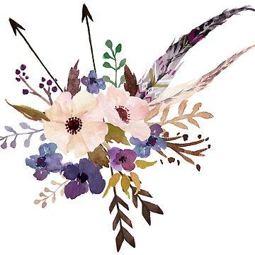 boho flowers by nsoumer