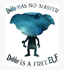 Dobby is a Free Elf Photographic Print