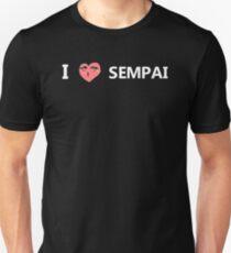 I love Sempai (white) - Shoujo Heroine Unisex T-Shirt