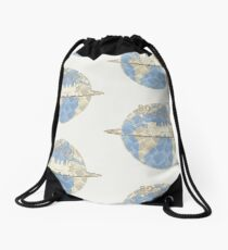 Around the World in 80 Days - Earth Drawstring Bag
