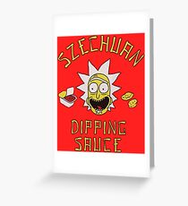 Rick and Morty Szechuan Sauce Greeting Card
