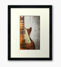 Guitar Vibe 1- Single Cut '59 Framed Print