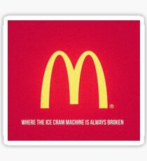 mcdonald meme Sticker