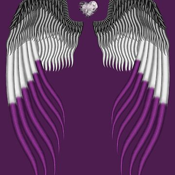 Asexual pride wings by HauntedIndigo