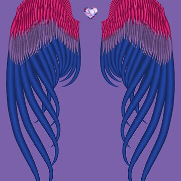 Bisexual pride wings by HauntedIndigo