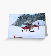 Helicopter In Antarctica  Greeting Card