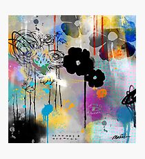 Abstract Graffiti Floral Photographic Print