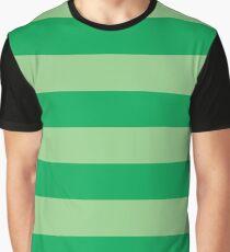 Light Green Stripes Graphic T-Shirt