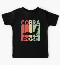 Yoga Cobra Pose Vintage Retro Kids Tee