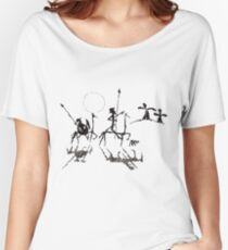 Don Quijote y Sancho panza Women's Relaxed Fit T-Shirt