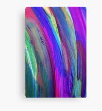 Rainbow Alcohol Ink Art Canvas Print