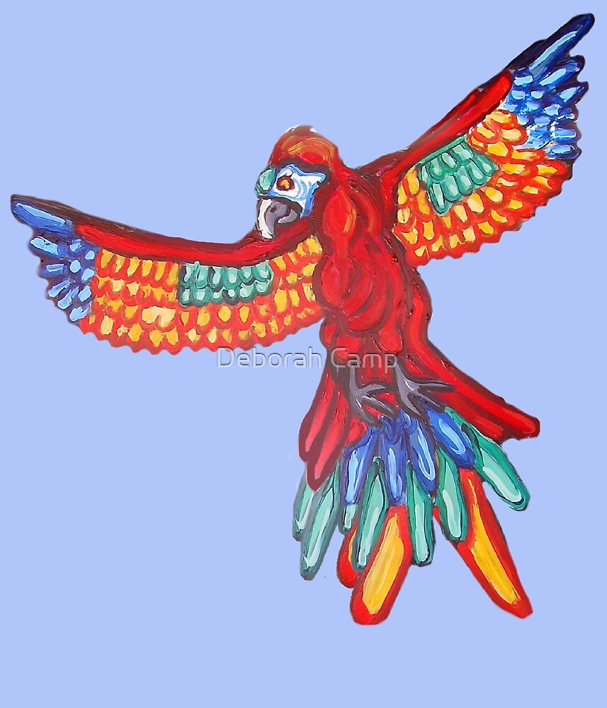Majestic Macaw Flying into your Heart by Deborah Camp
