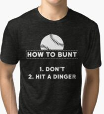How To Bunt Shirt Tri-blend T-Shirt