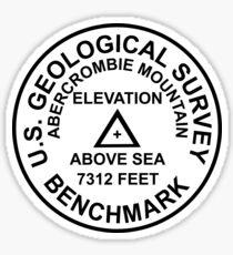 Abercrombie Mountain, Washington USGS Style Benchmark Sticker
